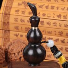 包邮 紫光檀鼻烟壶红木烟壶出国礼品民间手工艺送老外 乌木鼻烟壶