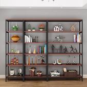简易书架置物架落地层架多层收纳架储物家用客厅厨房卧室展示货架