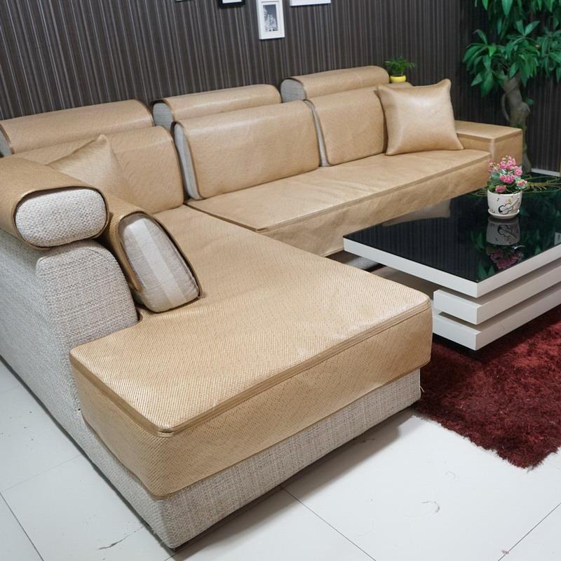 新款夏季木沙发套冰丝凉席沙发笠沙发坐垫子夏天全包
