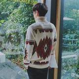 男士高领毛衣套头修身韩版潮流学生青年针织衫秋冬季男装加厚外套