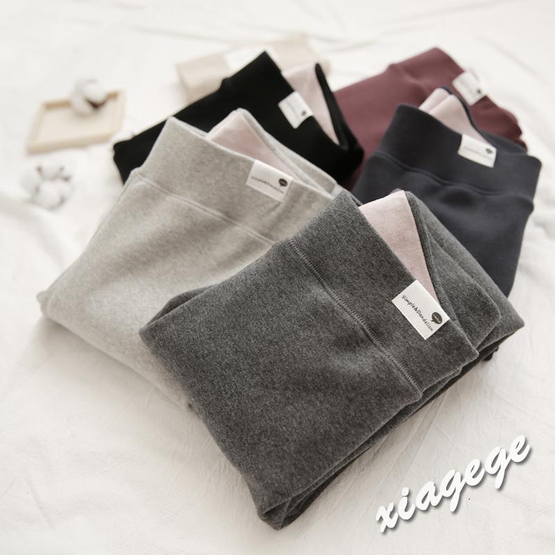秋冬季韩版纯棉加厚加绒打底裤