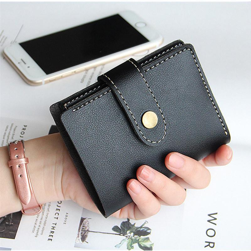 迷你女士学生皮夹复古手拿包钱夹超薄搭扣钱包