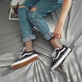 韩国代购VANS范斯男鞋经典款夏季女鞋Old Skool低帮帆布休闲板鞋
