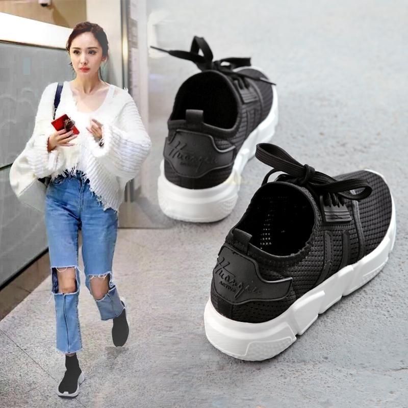 网鞋女百搭运动鞋韩版潮子女透气帆布鞋休闲跑步学生