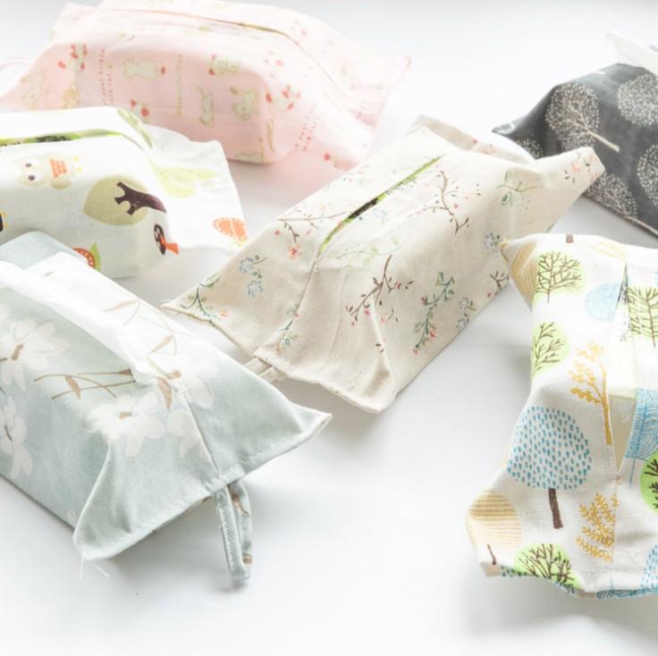 清新纸巾套布艺简约可爱挂式车用棉麻袋家用客厅抽纸盒创意纸巾盒