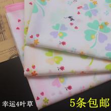 月季花 出口日本女士全棉手帕60支纯棉印花手绢汗巾 包邮 5条