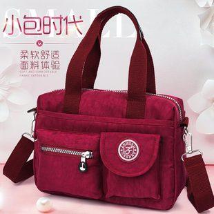 布包女包手提包2017新款牛津帆布小包休闲单肩斜跨尼龙女士包包