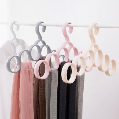 居家家圈圈衣架丝巾领带收纳挂架家用围巾架挂皮带架子腰带丝巾架