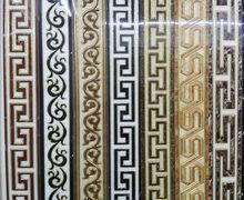 100客大厅走廊餐厅串边波导线地线波打线k金镀抛金瓷砖 10公分800