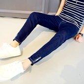 九分裤 韩版 潮男裤 夏季男士 子9分哈伦裤 薄款 小脚裤 修身 英伦牛仔裤