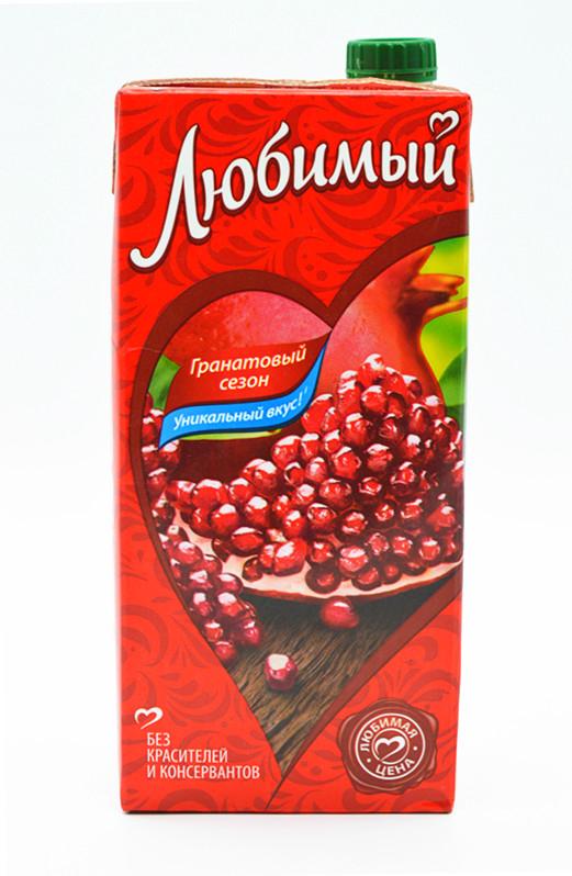 俄罗斯 进口 喜爱牌石榴果汁饮料 原装 店长推荐 促销热卖