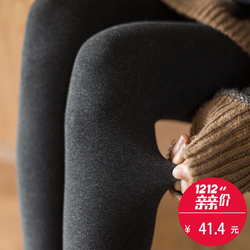 靴下物900D连裤袜秋冬平板加绒显瘦保暖厚打底袜女九分黑色美腿袜