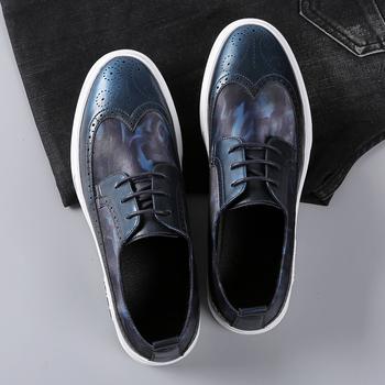 布洛克休闲皮鞋男鞋英伦潮鞋个性
