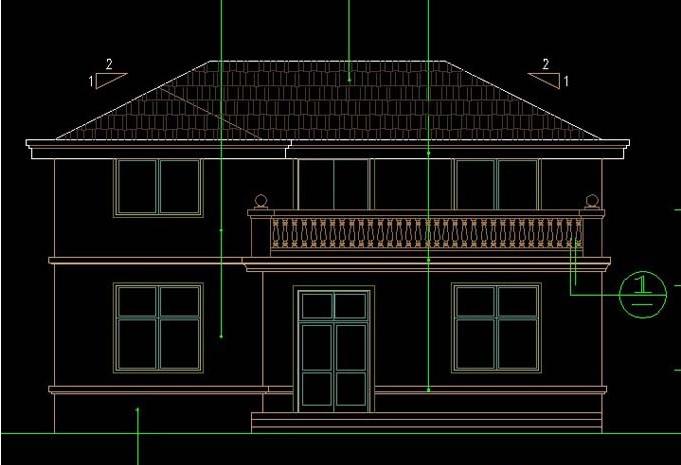 带落地窗二层楼房设计图纸 施工图 效果图二层别墅图纸2层房子图