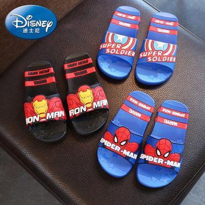 迪士尼童鞋儿童拖鞋男童凉拖女童夏室内蜘蛛侠宝宝浴室防滑凉拖鞋