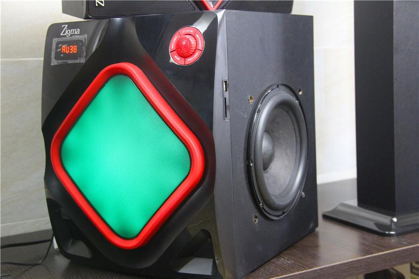 寸插卡重低音炮 8 音响大功率 FM 家庭影院音箱有沾木质家用 5.1 欧美
