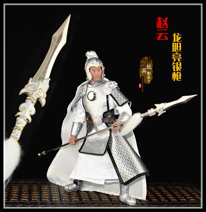 龙胆亮银_1:6古代兵器武器模型 赵云武神赵子龙青钢剑 龙胆亮银枪兵人配件