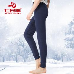 三层加厚男护膝护臀纯羊毛保暖裤