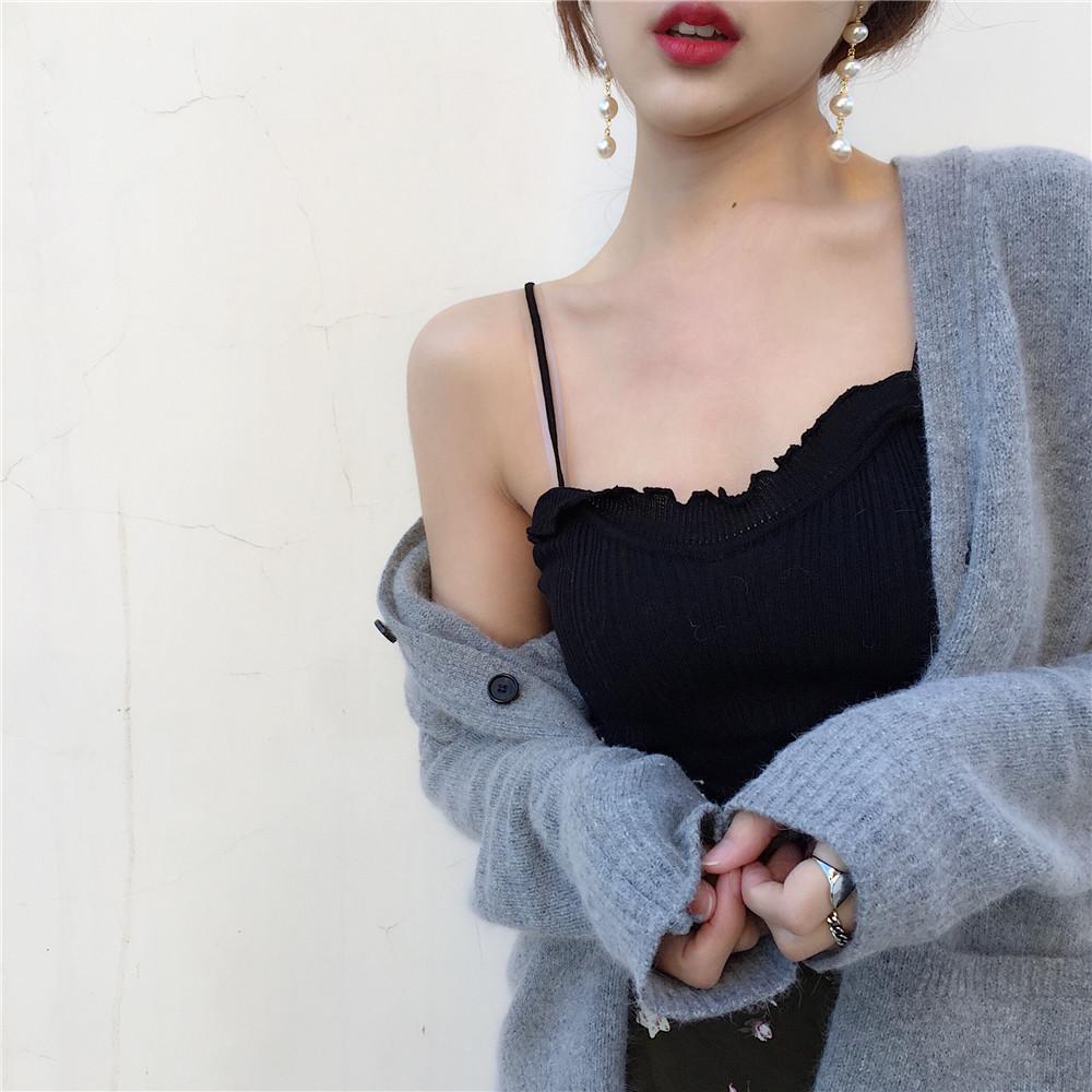 背心针织吊带打底夏季上衣外穿内搭内穿韩版百搭短款