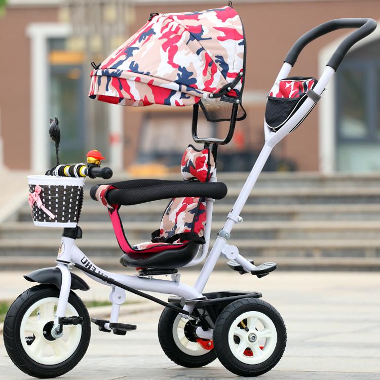 儿童推车1-6岁儿童三轮车脚踏车宝宝自行车婴儿手推车三轮推车