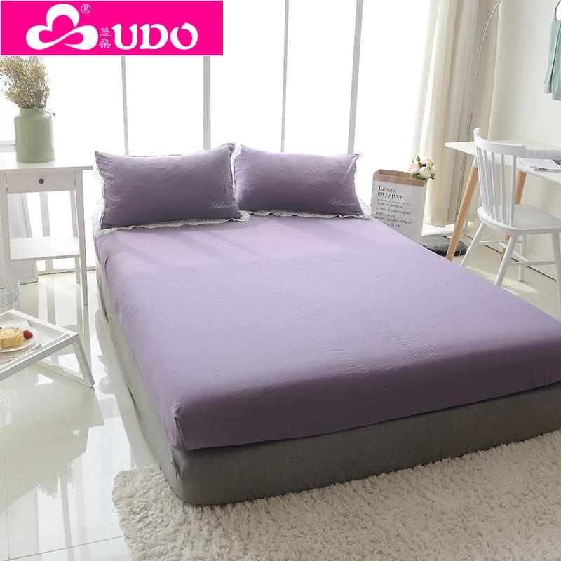 床罩席夢思純色床墊護套 泡泡紗水洗素色