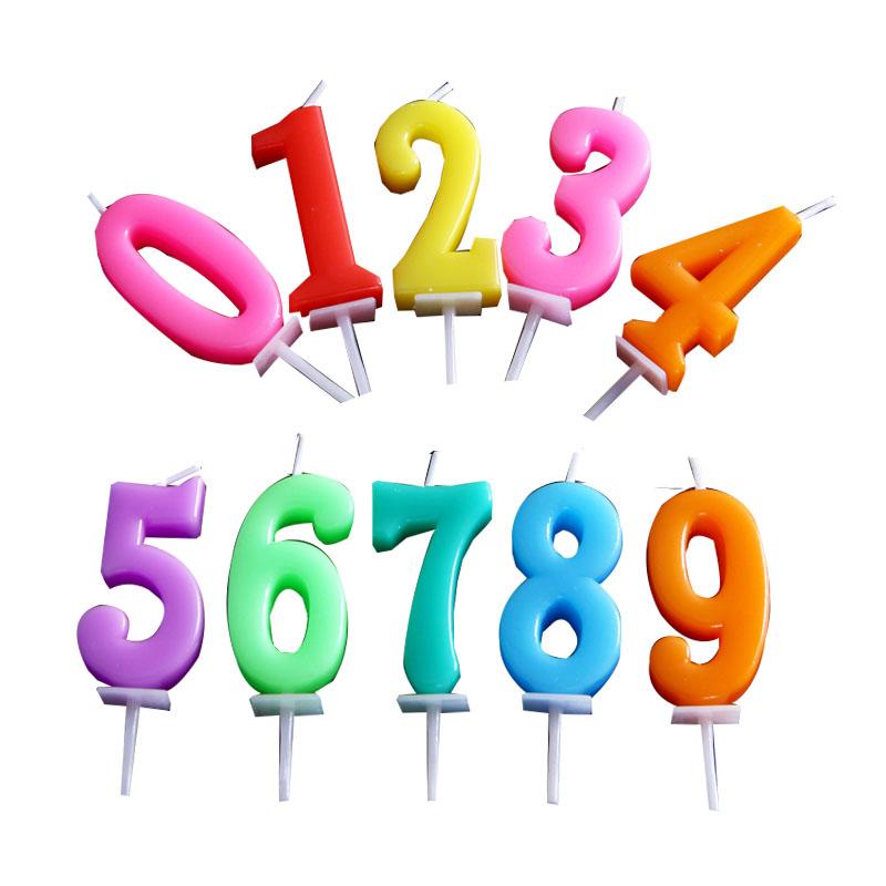 包邮儿童生日礼物数字蜡烛 周岁派对创意无烟蛋糕烘焙