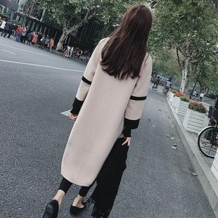 2017秋冬季新款韩版女装宽松呢子大衣大码中长款加厚显瘦毛呢外套