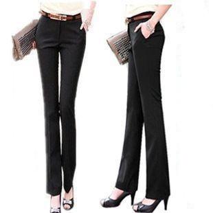 OL正装裤女裤子女式西装裤大码直筒女西裤修身女装长裤女士直筒裤