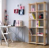 包邮实木格架子书架置物花架多层10格子架柜子鞋架货架隔断宜家