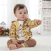 春装男童装韩版婴儿童套装0-1-2-3岁宝宝纯棉可开档春秋三件套潮