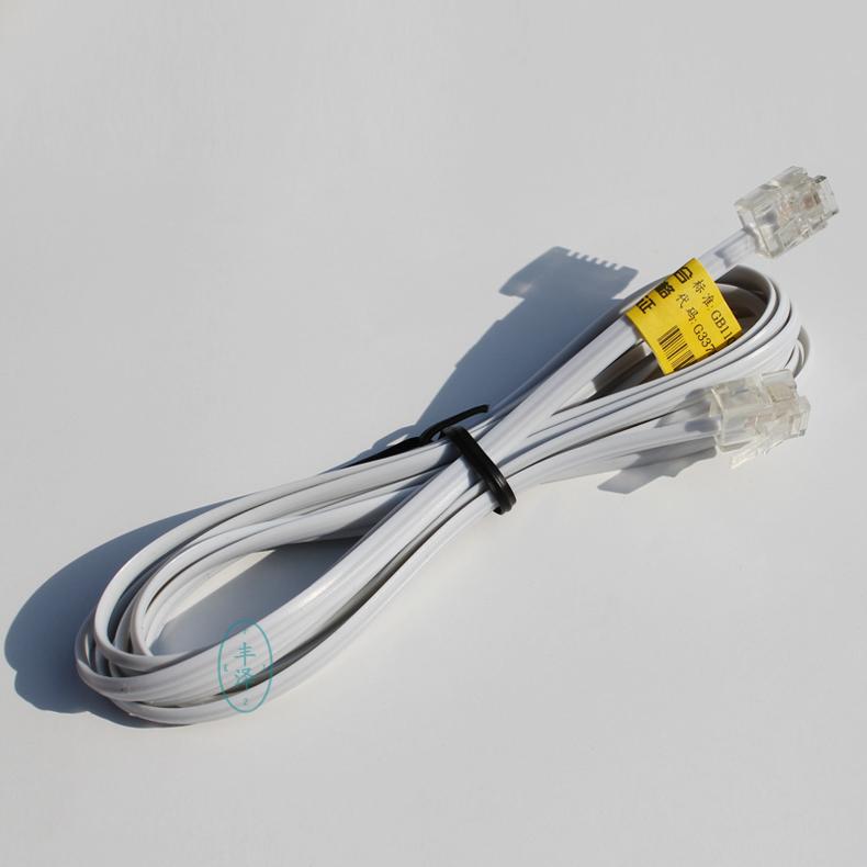 电话线2米 3 5 10 20米电话直线 米数足长 单头 双头 独立精包装