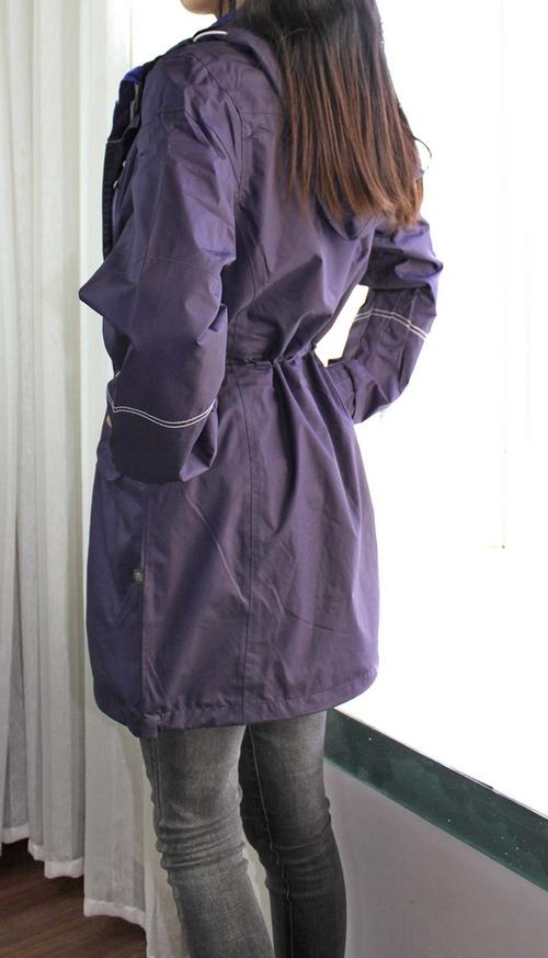 断码清仓特价 德国女式长风衣户外外套珊瑚绒带帽保暖大衣加大码