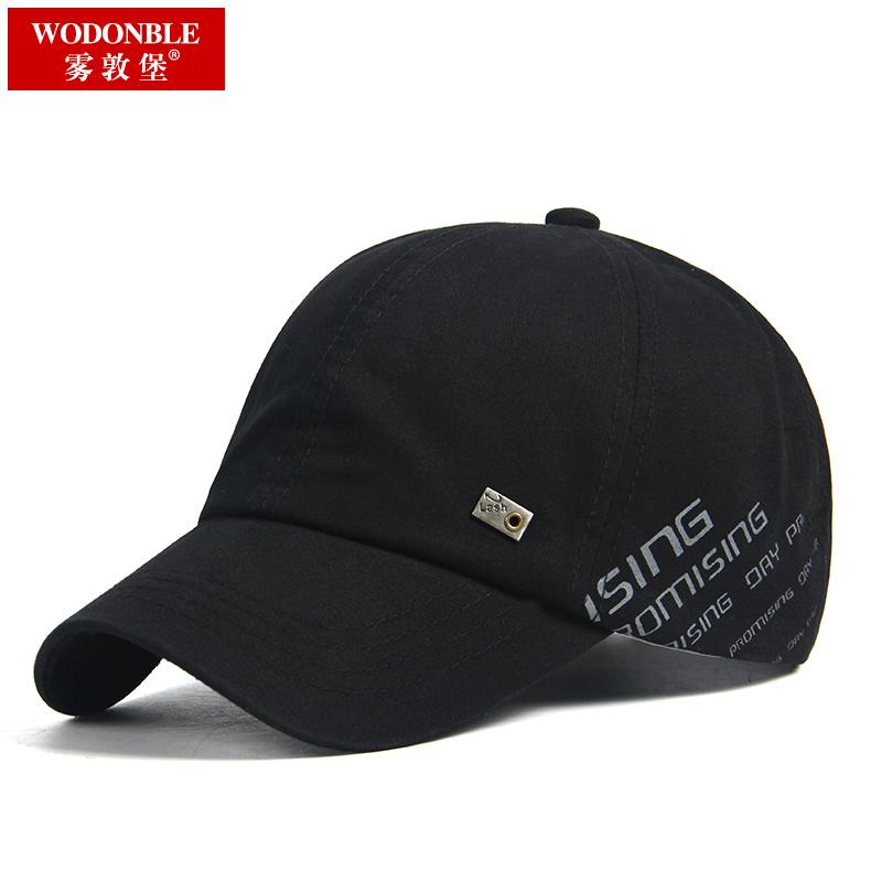 夏天户外男帽子中年棒球帽防晒遮阳休闲太阳帽圆顶短檐鸭舌帽子男