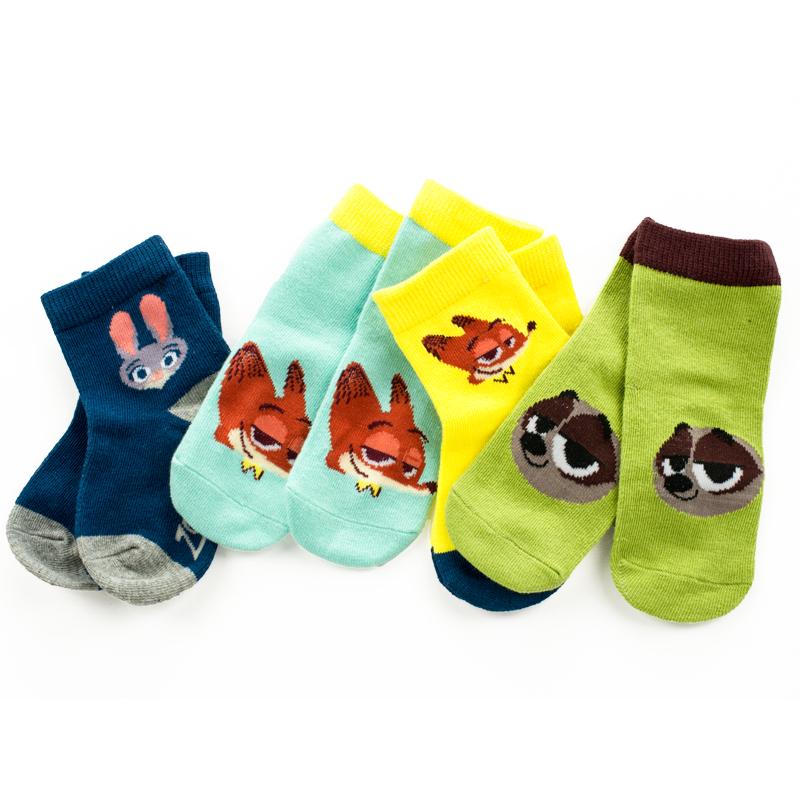 袜子 男童中筒袜疯狂动物城春秋袜小童袜秋季