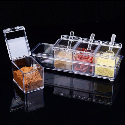 创意家居厨房生活日用品百货小商品调味罐调味盒塑料调料盒套装