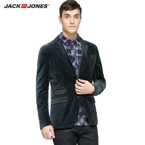 Jack&Jones杰克琼斯春纯棉丝绒修身男装西装外套O|215408004