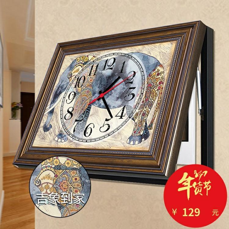欧式电表箱装饰画液压遮挡箱电闸电源盒挂画时钟表