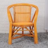 家居椅藤编靠背椅茶楼椅坐椅子 印尼单人真藤椅办公椅电脑椅