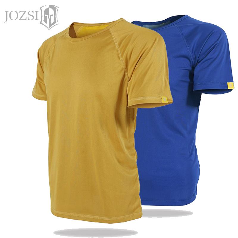 春夏季户外运动弹力修身T恤衫男士透气排汗跑步短袖速干衣男T恤