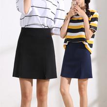 防走光半身裙女夏季韩版工作短裙一步职业百搭包臀工装黑色a字裙