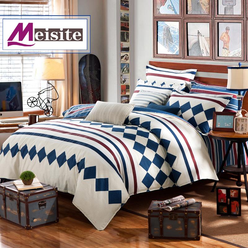 美斯特家纺美式简约风格床上用品全棉四件套欧式床品纯棉套件爆款