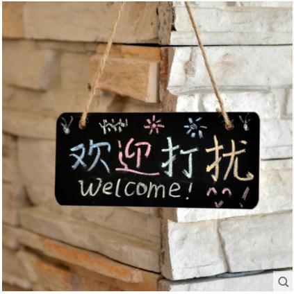 韩版风格可挂式小黑板迷你店铺标记板创意挂门牌情调黑板