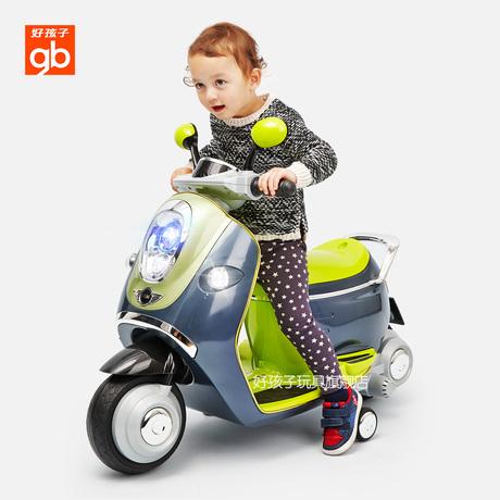 好孩子儿童电动车摩托车三轮车可坐人宝宝童车电瓶车玩具车童车商品大图