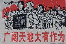 收藏文革宣传画毛主席画像怀旧海报大字报伟人像广阔天地大有作为