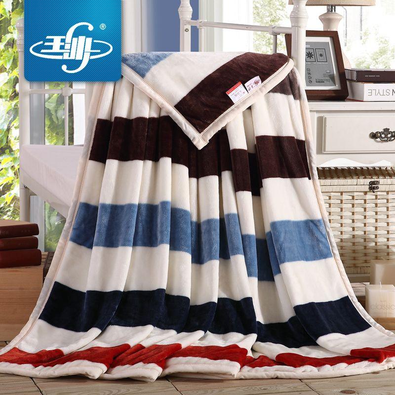 玉沙家纺法莱绒毛毯 加厚珊瑚绒毯子床单空调毯毛巾被法兰绒盖毯