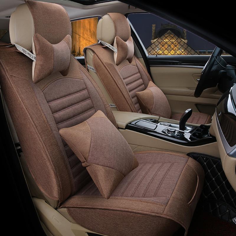 S6汽车坐垫专用四季通用亚麻威旺X25幻速座套全包S50 X35北汽绅宝