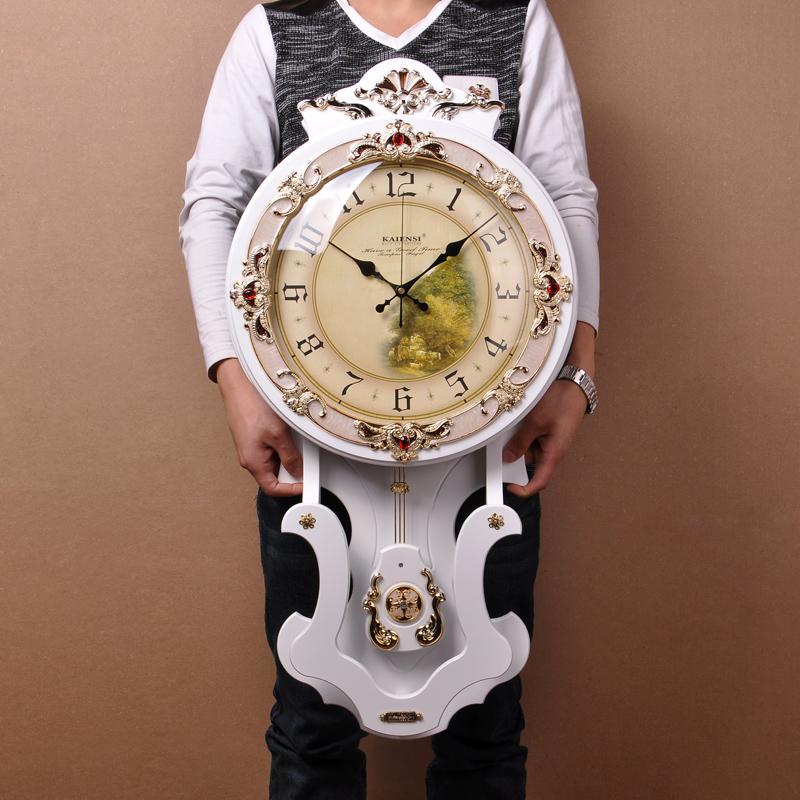 大号欧式挂钟客厅钟表意静音钟表复古摆钟豪华墙壁钟