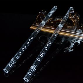 透明仿水晶笛子 初学横笛 专业竹笛精制乐器 龙树平专利厂家直销