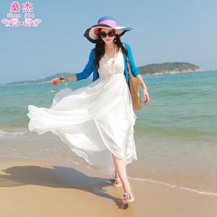 杰2016新款波西米亚长裙沙滩裙雪纺海边度假夏季大摆女连衣裙子