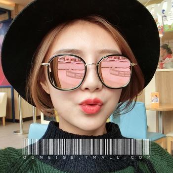 墨镜女潮2016个性复古眼镜韩国男偏光圆脸近视明星同款2017太阳镜